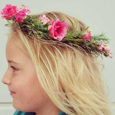 little girls flower crown
