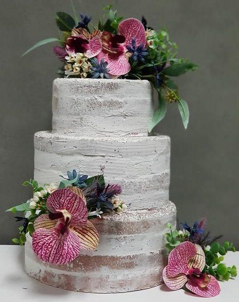 Floral cake topper