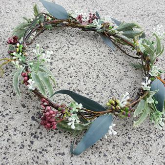 artificial flower crown