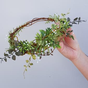 artificial flower crown