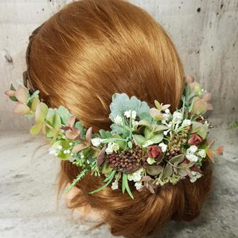 artificial hair flowers