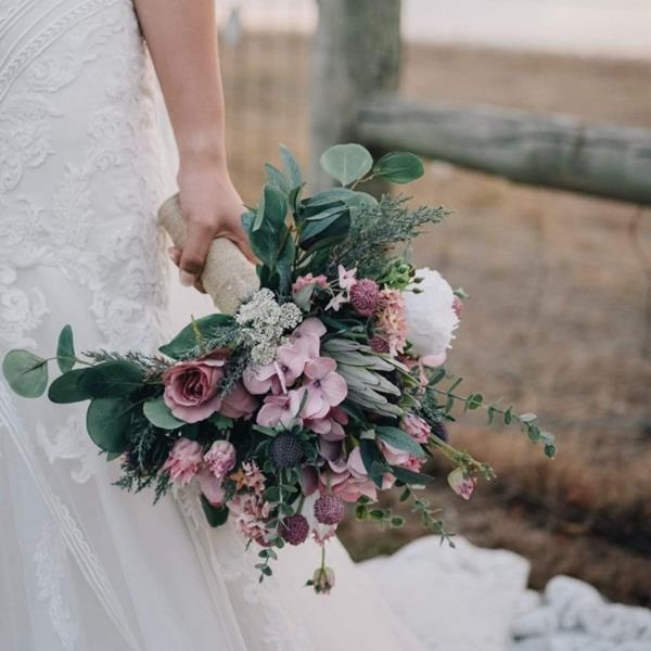 Artificial wedding bouquet