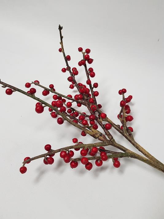Artificial Red Berry Spray 60cm Desflora